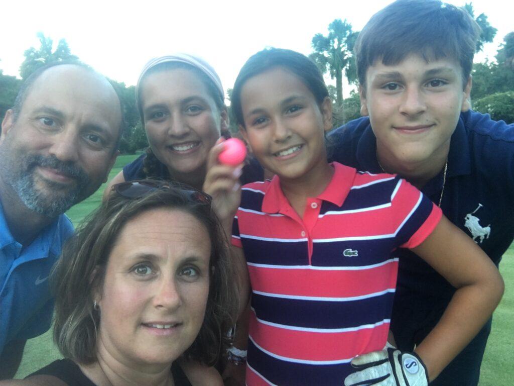 Sammy Azzouz family golfing